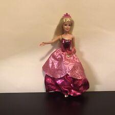 Barbie Doll Mattel Pink Jewel Body Wind Up Twist Twirl Dress Hot Pink Toy 2010