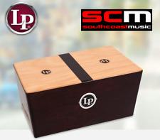 RRP$140 LP Percussion LP1429 Bongo Cajon Wooden Rhythm Bongos Box Hand Drum wBag