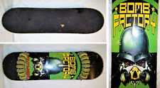 Bomb Factory FlowBoard Skateboard with Skull in a Gas Mask Design
