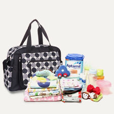 Allis Baby Nappy Changing Bags Changing Mat Diaper Backpack - Black Circle