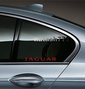 2 -JAGUAR X Tipe XK8 XKR S XJR XJ8 XJ6 XJS Racing Decal sticker emblem logo RED