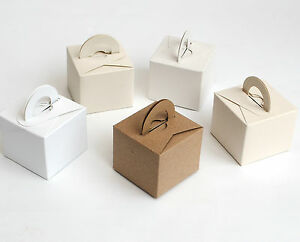 Recycled Card Favour Boxes, weddings, balloon weights, Gifts, Natural Shades