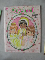 1982 Paper Dolls Book Rosebud by Whitman
