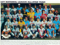 1977 ALL STAR TEAM NATIONAL LEAGUE 8X10 PHOTO MAYS ROSE SEAVER BASEBALL SUTTON