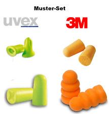 4 Paar Probe Test Muster UVEX 3M Gehörschutz Ohrstöpsel