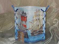 DekoWindlicht Leuchtturm Segelschiff Möwe  Tischlicht Mitbringsel Geschenkidee