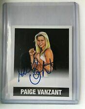 2016 Leaf Originals MMA BLACK ON CARD AUTOGRAPH #1/1 #A-PVZ Paige VanZant AUTO