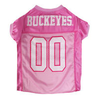 Ohio St. Buckeyes Licensed NCAA Pets First Dog Pet Pink Jersey Sizes XS-L
