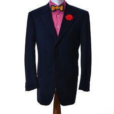 Homme CORNELIANI laine cupro Costume Veste Blazer Taille 102 8 L Bleu Made in Italy