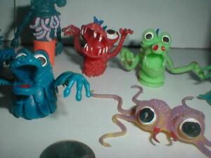 1970s Soft Rubber Jiggler Gigantor VTG LOT Finger Puppet Frights Monster Weirdos