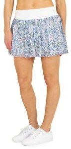 JOFIT Multi-Color Flounce SHERRY Print Mesh Swing Wide Band Skort Skirt M ~NWT~