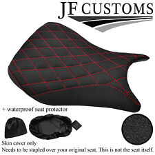 DSG4 GRIP VINYL RED ST CUSTOM FOR BMW S 1000 RR 11-17 FRONT SEAT COVERS + WSP