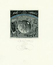 """End of the Summer"" Ex libris Etching by Konstantin  Kalinovich"
