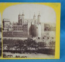 Scarce 1860s Stereoview Photo The Tower Of London 14 General View J Davis Burton