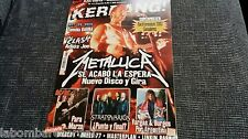 REVISTA MAGAZINE KERRANG 111 METALLICA WARCRY THE CLASH AC/DC STRATOVARIUS