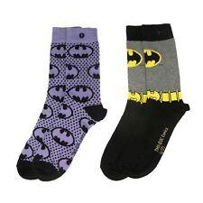 Officially Licensed Ladies DC Comics Batman Sketch Assorted Socks 2 Pack