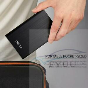 2TB USB 3.0 External Hard Drive Disks HDD 2.5'' Portable For PC Laptop Desktop