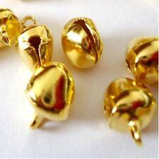 100 pieces 6mm Gold Tone Metal Jingle Bells - A8178