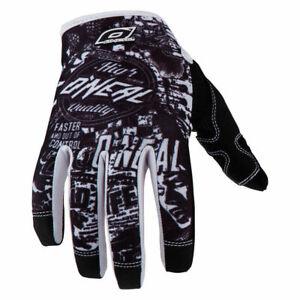 O'neal Jump MTB DH FR Mountain Bike Full Finger Glove Wild Black White XL