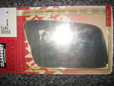 NEW R/H DOOR MIRROR GLASS - FITS: VOLVO 440 & 460 (1984-91)