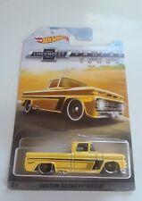 1962 Custom Chevy Pickup Truck 2017 Mattel Hot Wheels Yellow 1/64 Die-Cast