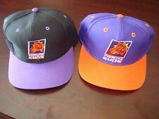 PHOENIX SUNS LOGO7 LOT 2- HATS  BIG LOGO  SCRIPT VINTAGE 90'S HAT CAP  SNAPBACK