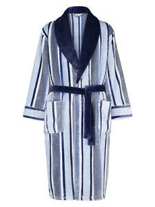 Men's XXXL Long 49'' Length Flannel Fleece Dressing Gown