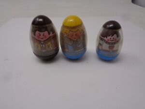 Vintage Hasbro Weeble Wobbles Lot Of 3