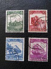 "Germany #459-62 Used, 1935 ""Trains,""  Scott Catalog Value $ 5.40"