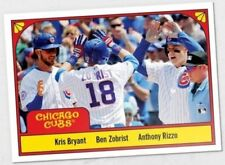 Zobrist Rizzo Kris Bryant 2018 Topps TBT Throwback Thursday '78 Three's Company