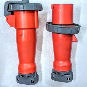 Hubbell Pin & Sleeve Plug 460P12W & 460C12W Watertight Industrial Grade