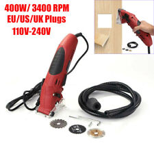 400W Mini Electric Cutting Tool Hand Held Laser Circular Saw Grinder Kit 3400RPM