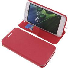 Tasche für Acer Liquid Z6E Book-Style Schutz Hülle Handytasche Buch Rot