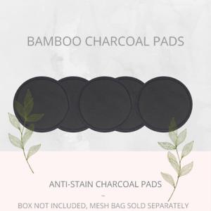 Soul Projekt Charcoal Reusable Bamboo Make Up Remover Pads Vegan Washable