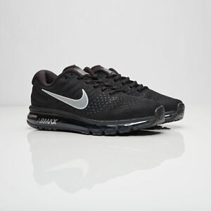 NIKE AIR MAX 2017 BLACK SNEAKERS VARIOUS SIZES FREE SHIPPING