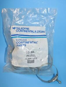 10 New Continental Intake Hose Clamps, P36151L, 2 13/16 x 1/2