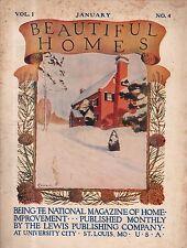 January 1909 Beautiful Homes in Columbia, Clayton, Kenwood Springs, St. Louis MO