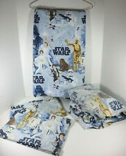 Pottery Barn Kids Star Wars Full Size Sheet Set - 2 Pillowcases, Flat & Fit 2009