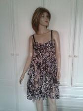 H & M ANIMAL PRINT FLOATY DRESS SIZE 8 BNWT
