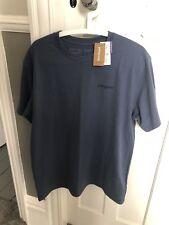 Patagonia Men's Short Sleeve Line Logo Badge Graphic Tee T Shirt Dark Blue