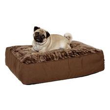 Karlie Mega Pet Bed Brown | Large Luxury Dog Bed Mattress Heavy Breeds 80 x 60cm