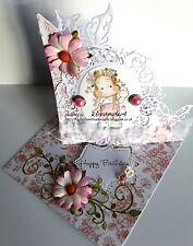 Beautiful Magnolia Tilda Handmade boxed Card