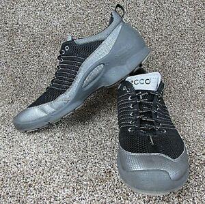 Ecco Biom Train Men Shoes Natural Motion Black Silver Size 12/12.5 (46)