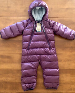 Patagonia Infant Hi-Loft Down Sweater Bunting Size 0-3 Months Light Balsamic NWT