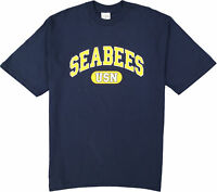 "US Navy ""Seabees"", USN, Navy & Yellow T-Shirt, Made in the USA"