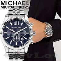 Original Michael Kors Uhr Herrenuhr MK8280 Lexington Chrono Silber/Blau  NEU!