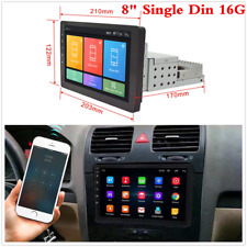 8in Android 8.1 Single Din Stereo Radio Player Wifi 3G 4G BT Car GPS Navigation