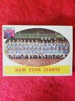 Vintage New York Giants 1958 Topps NFL Team Topps Football Card