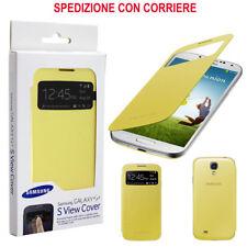 Custodia Cover Originale Samsung Galaxy S4 I9500 I9505 S View Gialla Blister oem