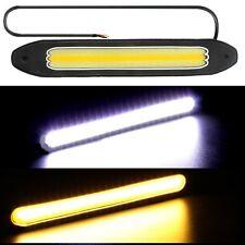 2x LED COB DRL Daytime Running Fog Driving Light White + Yellow Turn Signal 12V